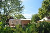 Rental - Mobile Home Confort + 27m² (2 bedrooms) with covered terrace - Flower Camping Le Château