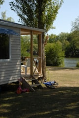 Rental - Mobile home 27m² Lakeview / 2 bedrooms - Terrace - Camping du Lac des Varennes