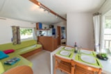 Rental - Mobile home ECO 32m² / 3 bedrooms +  Half-covered terrace  (2002) - Flower Camping de Mesqueau