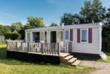 Rental - Mobile home Riviera SUPERIEUR 32m² / 3 bedrooms + covered terrace (2013) - Flower Camping de Mesqueau
