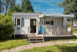 Rental - Mobile home ECO + Half-covered terrace 27 m² / 2 bedrooms (2002) - Flower Camping de Mesqueau
