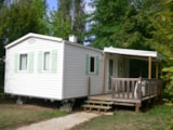 Rental - Mobilehome Super Mercure 28M² - 2 Bedrooms - Half-Covered Terrace - Camping du Lac de Groléjac