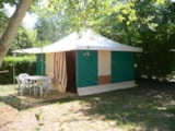 Rental - Bungalow Canvas Trigano 16M² Furnished - 2 Bedrooms - Camping du Lac de Groléjac