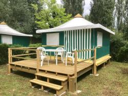 Rental - Canvas bungalow with terrace 16m² - 2 bedrooms - Camping du Lac de Groléjac