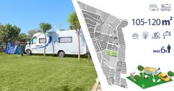 Pitch - Pitch Master Plus (105-120M²): Vehicle + Caravan/ Camping-Car + Electricity + Water - Camping & Resort Sangulí Salou