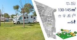 Pitch - Pitch Premium (130-145M²): Vehicle + Caravan/ Camping-Car + Electricity + Water - Camping & Resort Sangulí Salou