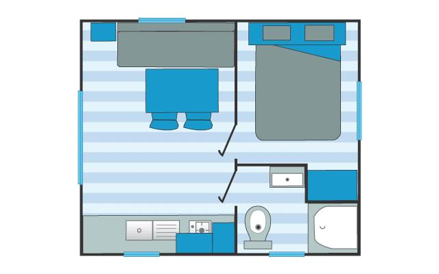 Mobil Home Gamme Confort 1 Chambre