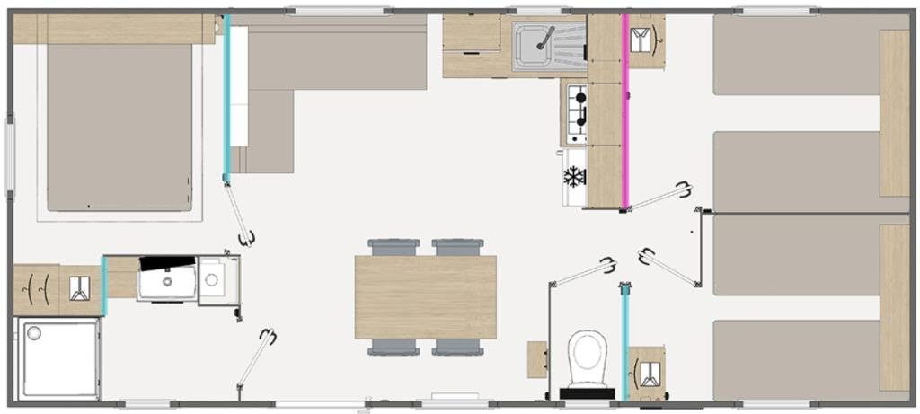 Mobil Home Gamme Confort 3 Chambres