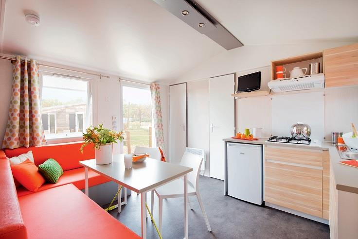 Mobil-Home Confort+ 27M² (2 Chambres) + Terrasse Couverte 12 M²