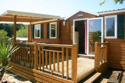 Rental - Mobilhome Titania 3 bedrooms  32m² + half-covered terrace 18 m² (2010) - PRL Aux Etangs du Bos