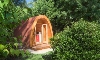 Wooden Cabin Without Toilet Blocks