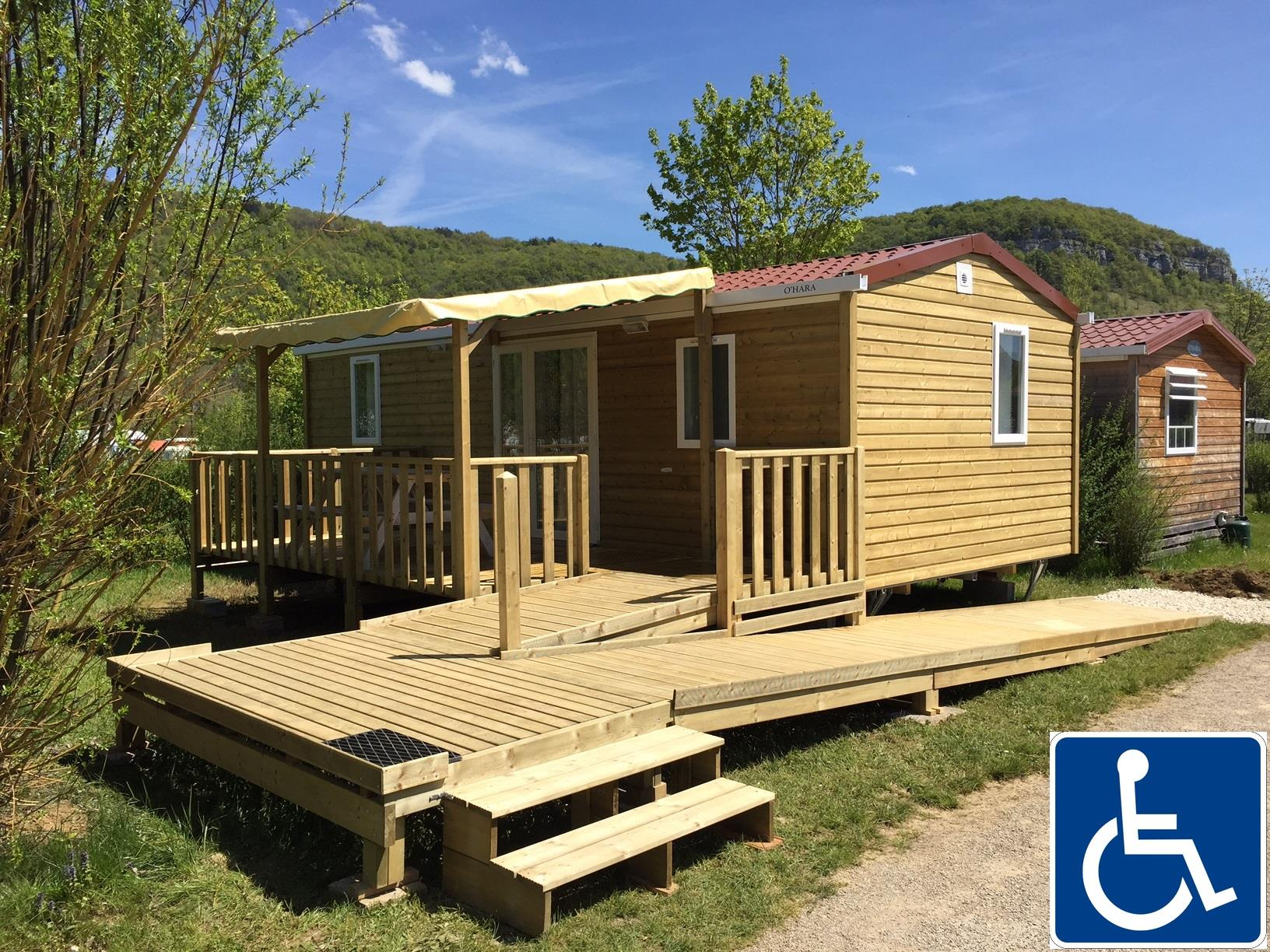 Location - Cottage Caborde Pmr - 32M² - 2 Chambres, Ultra-Spacieux Entièrement Accessible Aux Fauteuils - Camping La Roche d'Ully