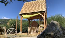 Accommodation - Cabane On Piles - New The Attic Philibert, Atypical, A Child's Dream - Camping Ecologique La Roche D'ully
