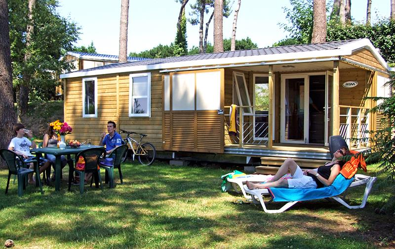 Location - Chalet Lodge*** 6 Pers. 3 Chambres - Camping Mané Guernehué