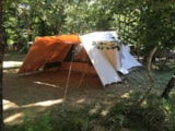 Rental - Tunnel Tent 2/4 Persons by night - Le Grand Bois