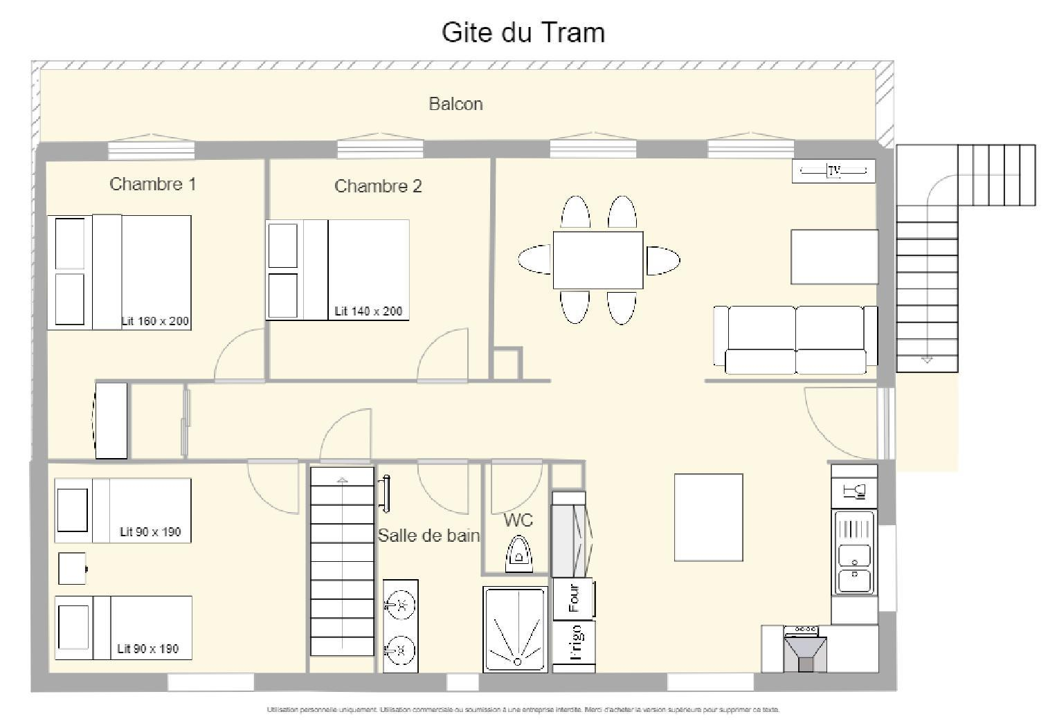 Accommodation - Tram Gîte 80M² - Camping le Moulin