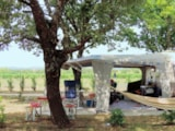 Pitch - Camping pitch  (2 people + Car) + Electricity 16 A - Camping Le Garrigon