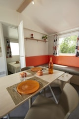 Rental - Mobil-Home TEXAS Premium 32m² air-conditioning (3 rooms) Dishwasher + TV - Camping Le Garrigon