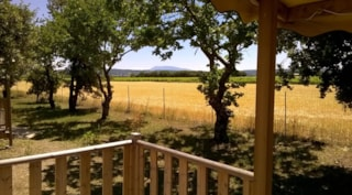 Mobil-Home IDAHO Premium 24m² air-conditioning (2 rooms) TV+ Dishwasher and view Mont Ventoux