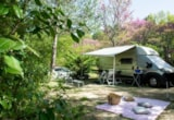 Pitch - Pitch: car + tent/caravan or camping-car - Camping Le Luberon ****