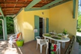 Rental - Cottage Mimosa 30m ² + 10m ² covered terrace - Camping Le Luberon ****
