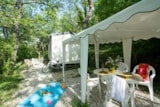 Rental - Cottage Cigale :  28 m² + 16 m² gazebo - Camping Le Luberon ****
