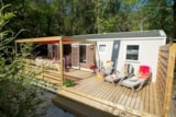 Rental - Cottage Romarin 32m² air-conditioned + terrace 24m² - Camping Le Luberon ****