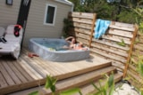 Rental - Cottage Romarin 32M² Air-Conditioned + Private Jacuzzi + Terrace 24M² - Camping Le Luberon ****