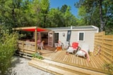 Rental - Cottage Romarin 29,5m² air conditioned + 20m² half covered terrace - Camping Le Luberon ****