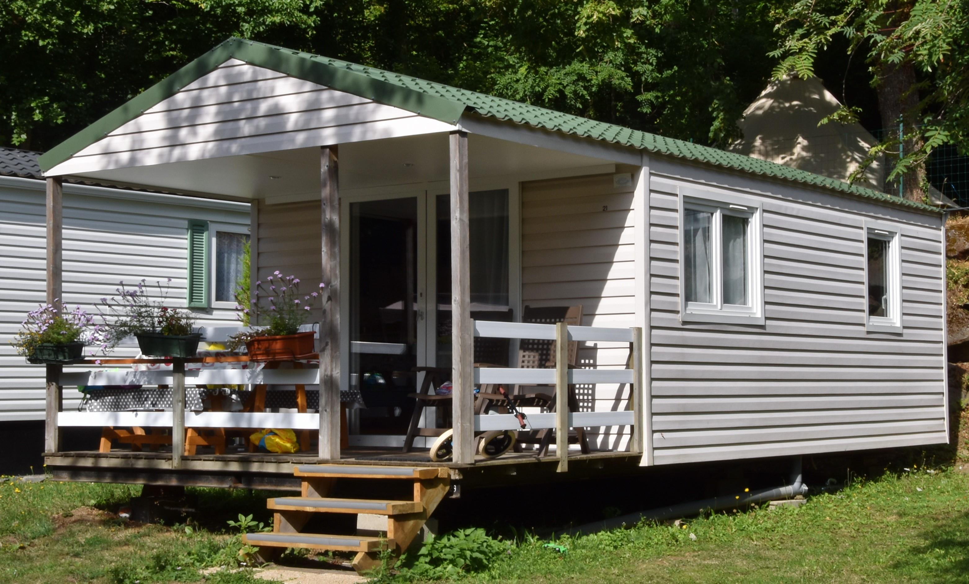 Location - Mobil Home Louisiane Mediterranee 7.75 M X 4.00 M. 2 Chambres - Camping L'Ombrage