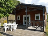 Rental - Chalet Confort + 35 m² + sheltered terrace (2 bedrooms) - Flower Camping Le Belvédère