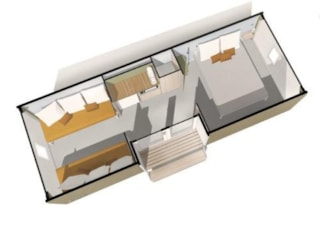 Coco Sweet 16M² - 2 Bedrooms - Without Toilet Blocks