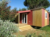 Rental - Mobile-Home Elite Toile & Bois 21M² - 2 Bedrooms - Without Toilet Blocks - Camping Les Peupliers