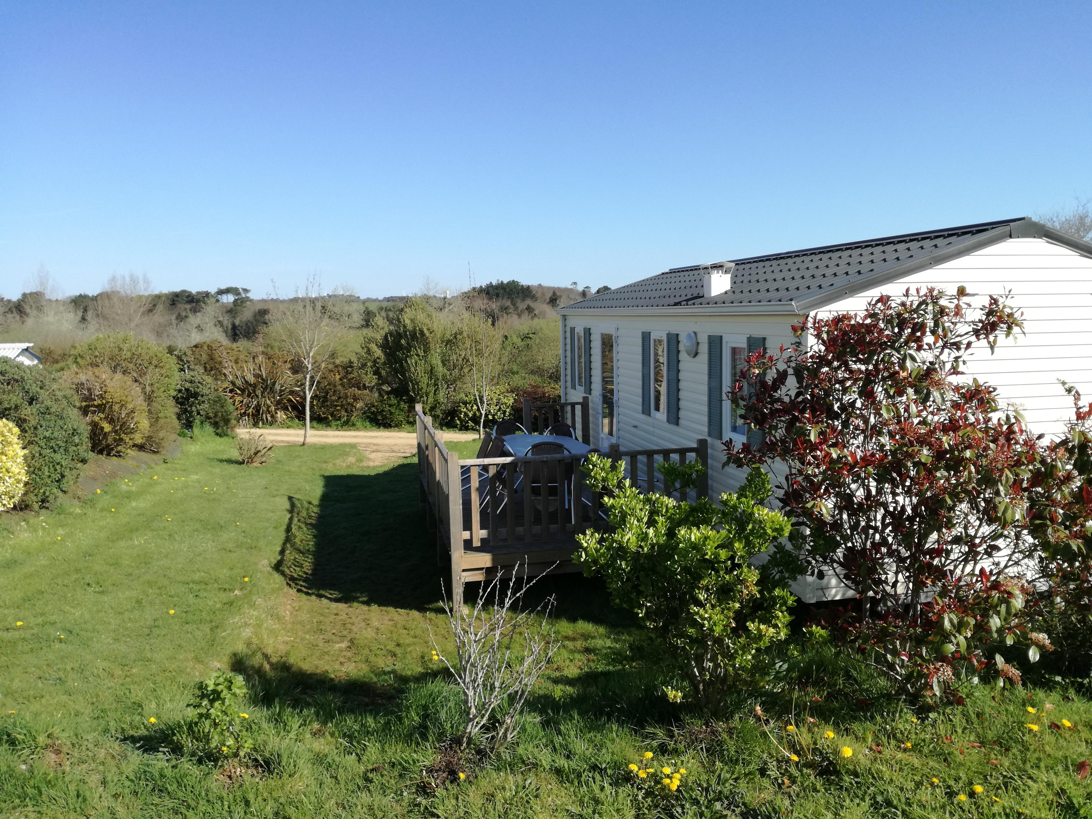 Location - Mobil Home Bermudes 06 32M² - 3 Chambres - Camping Les Peupliers