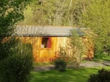 Rental - Wooden hut Premium 17 m² + terrace 30m² - with bathroom - Flower Camping La Rochelambert