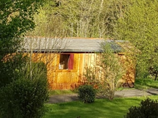 Wooden hut Premium 17 m² + terrace 30m² - with bathroom