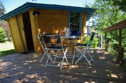 Cabin Robinson + 15m² + bathroom + terrace 14m²