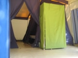 Rental - fully equiped frame tent CABANON 28.5m² (without toilet blocks) - Camping La Chatonnière