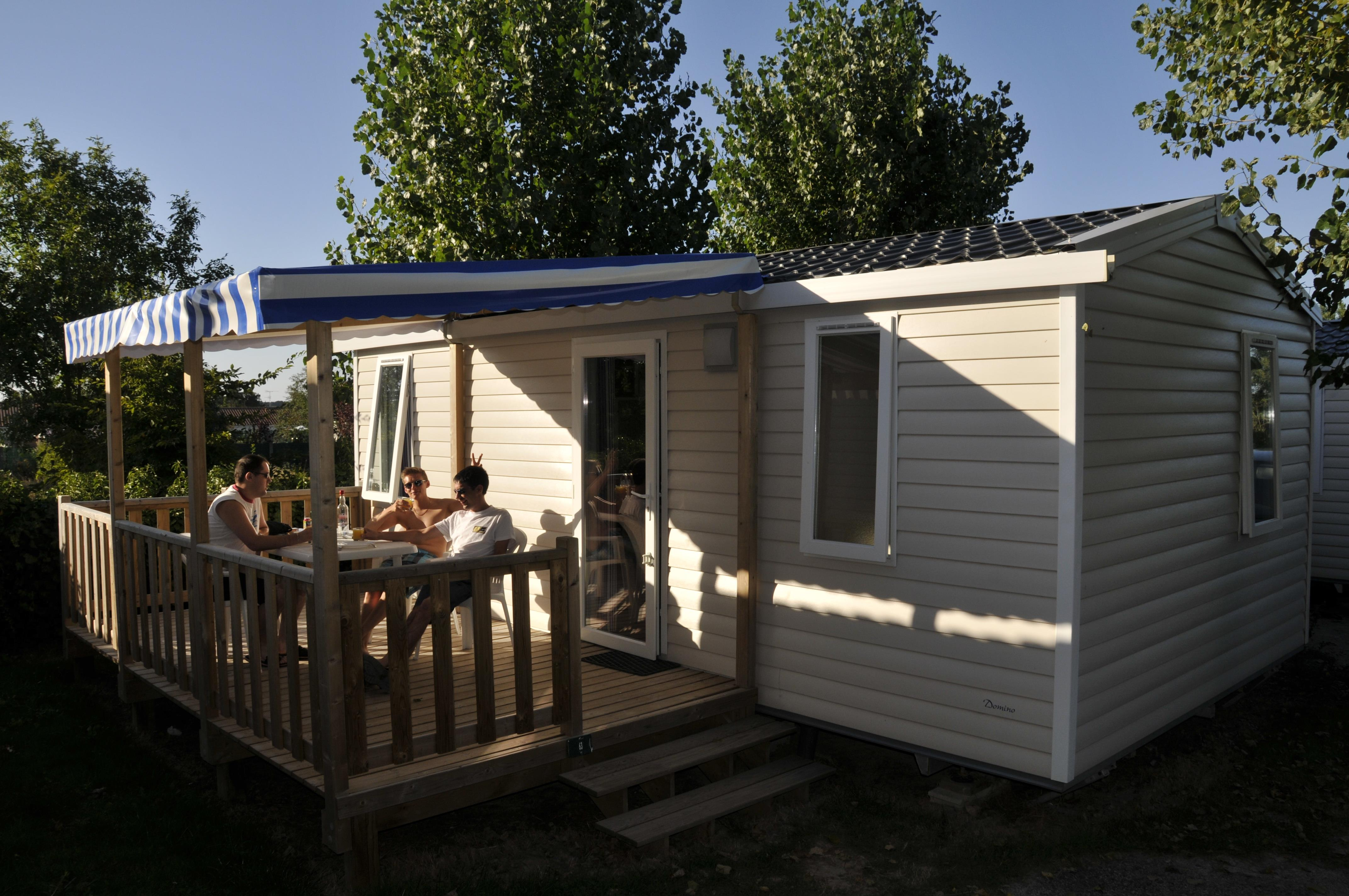 Mobilhome Domino avec terrasse (2 chambres) - 26 m²  ( - 5ans)