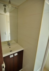 Rental - Mobile-home Duo 31m² 2 bedrooms front river - Camping Le Rochat-Belle-Isle