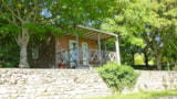 Rental - Chalet Noisette With Tv And Heating - 1 Bedroom - Camping Bleu Soleil