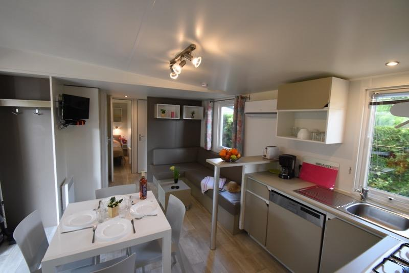 Mobilhome Privilège 40M2 4 Ch 8 Pers Clim/Lave Vaisselle/Tv