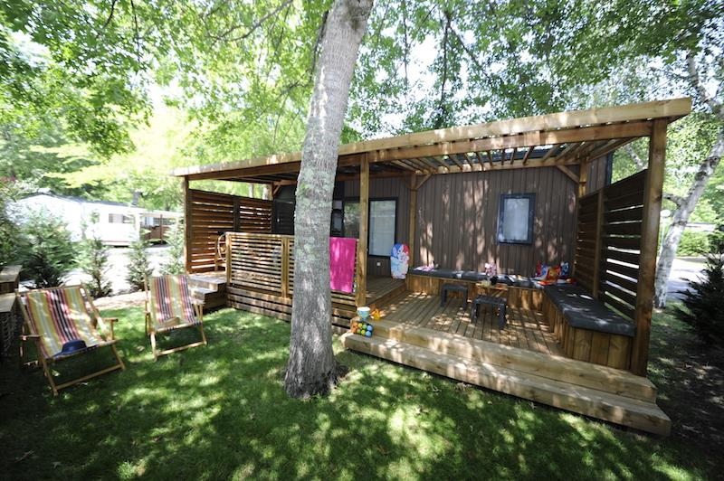 Location - Mobilhome Privilège 29M2 2 Ch 4 Pers Clim/Lave-Vaisselle/Tv - Camping Bimbo