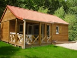 Rental - Wooden Chalet Confort With 2 Bedrooms - Camping Val de Trie