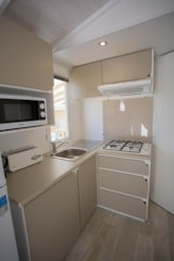 Rental - Mobile home OHANA 28m² (3 bedrooms) with terrace + air-conditioning - Nai'a Village - Soleil Bleu by Nai'a