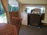 Rental - Cabatente 24m² - 2 bedrooms - Camping Sites et Paysages LES SAULES - Cheverny