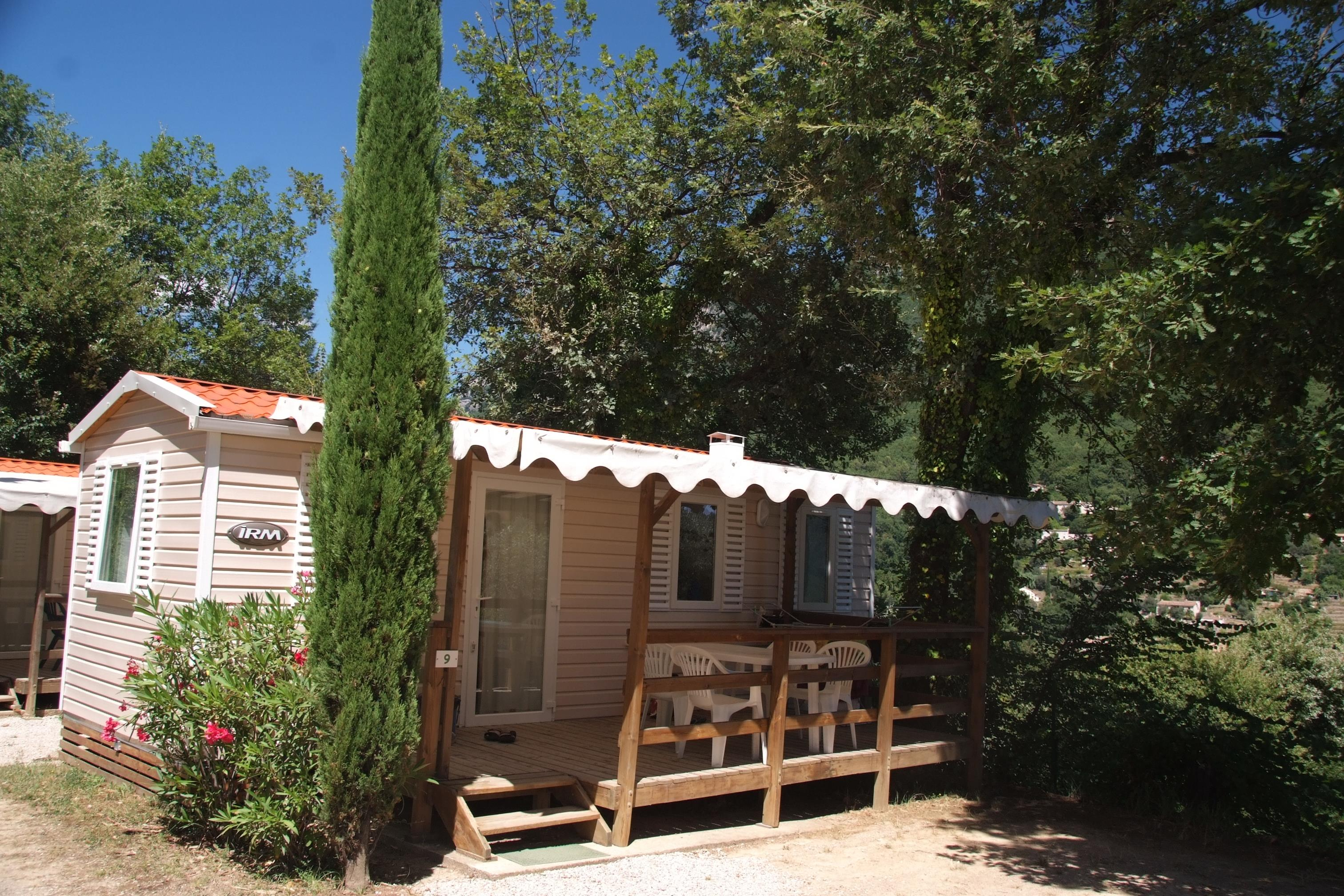 Location - Mobilhome Tout Confort (2 Chambres) + Terrasse - Camping Les Gorges du Loup