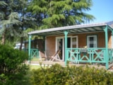 Rental - Chalet Canelle 24M² / 2 Bedrooms - Sheltered Terrace - Camping Le Clos du Blavet