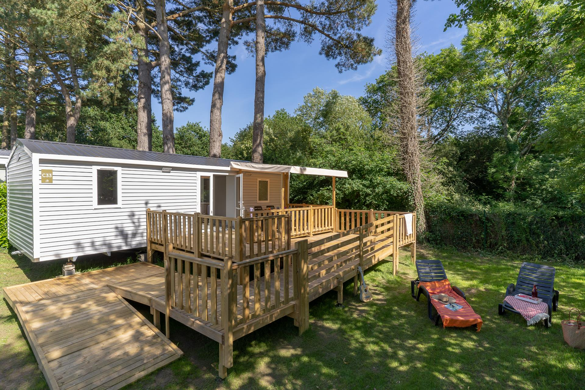 Location - Cottage Pmr **** 2 Chambres - Camping Sandaya Les Deux Fontaines