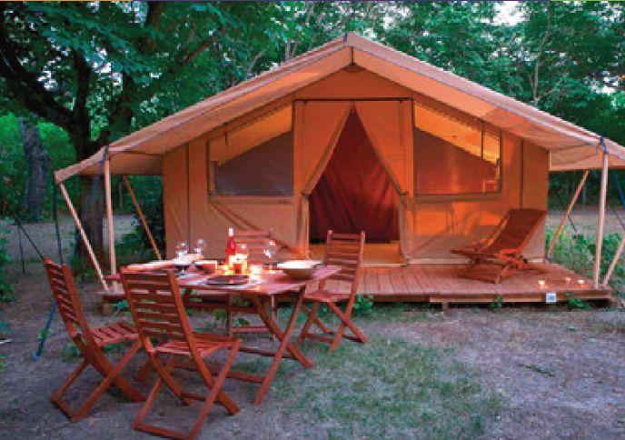 Tent Cabanon 25m² 2 kamers (2014)